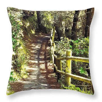 Walk To The Beach Throw Pillow