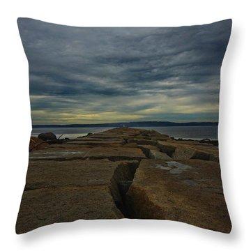Walk To The Sea Throw Pillow