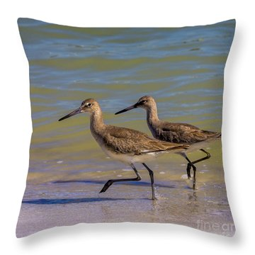 Walk Together Stay Together Throw Pillow