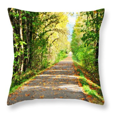 Throw Pillow featuring the photograph Walk With Me Forever  by Mindy Bench