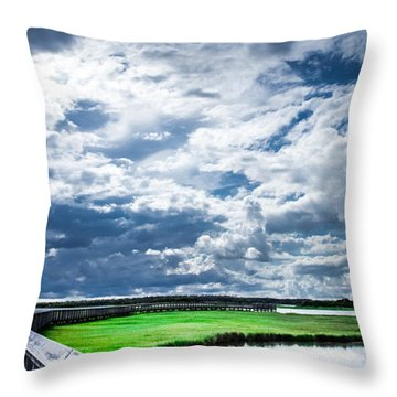 Walk With Me In The Sky Throw Pillow