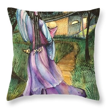 Walk With My Baby Throw Pillow