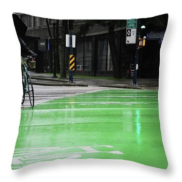 Walk With Wheels  Throw Pillow by Empty Wall