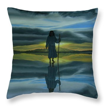 Walk With You Throw Pillow