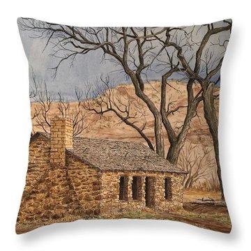 Walker Homestead In Escalante Canyon Throw Pillow