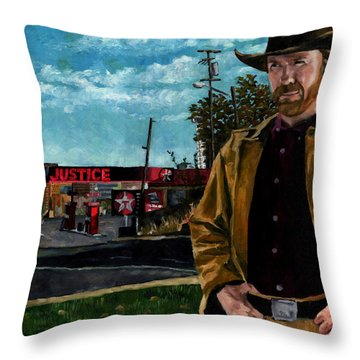 Walker Texaco Ranger Throw Pillow