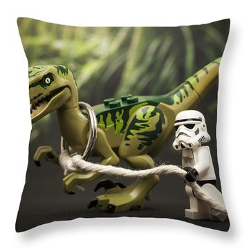 Walkies Throw Pillow