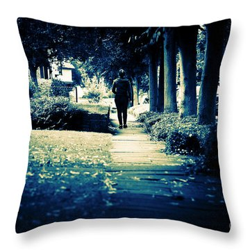 Walking A Lonely Path Throw Pillow