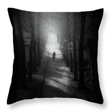Walking Alone Throw Pillow by Celso Bressan