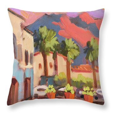 Walking Area In Old Town La Quinta Throw Pillow