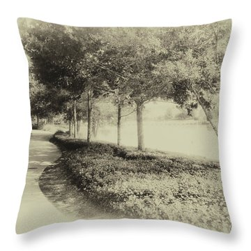Walking At Old Key West Resort Wdw In Heirloom 02 Mp Throw Pillow