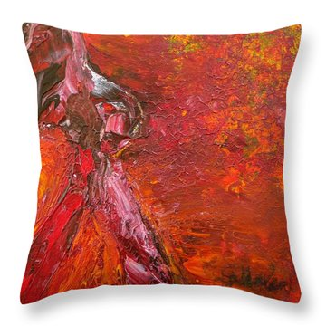 Walking Away Throw Pillow by Jim Whalen
