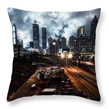 Walking Dead Tribute Downtown Atlanta Georgia  Throw Pillow