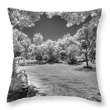 Walking In Clark Gardens Throw Pillow
