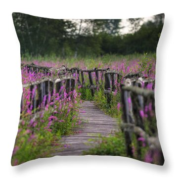 Walking In Magic... Throw Pillow