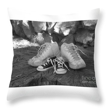 Walking In My Shoes Throw Pillow