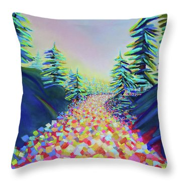 Walking In The Light Throw Pillow