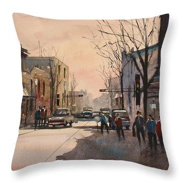 Walking In The Shadows - Fond Du Lac Throw Pillow by Ryan Radke