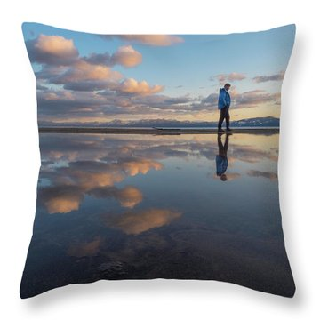 Walking In The Sunset Throw Pillow