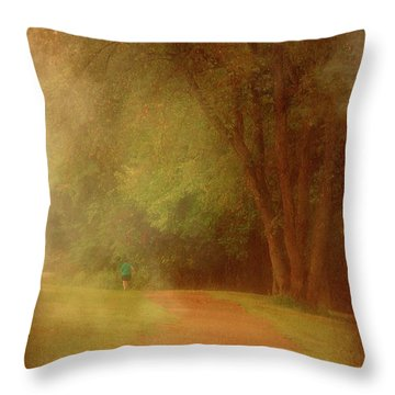 Walking Into A Dream - Holmdel Park Throw Pillow