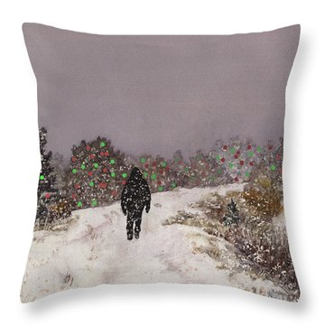 Walking Into The Light Throw Pillow