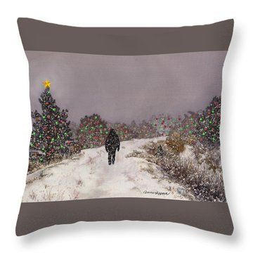 Walking Into The Light Throw Pillow by Anne Gifford