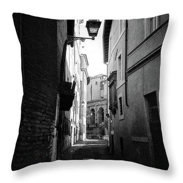 Walking Near The Campidoglio Throw Pillow