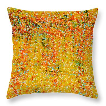 Walking On Sunshine Throw Pillow
