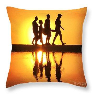 Walking On Sunshine Throw Pillow