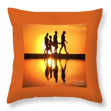 Throw Pillow featuring the photograph Walking On Sunshine by LeeAnn Kendall