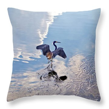 Walking On Water Throw Pillow by Carolyn Marshall