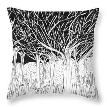 Walking Out Of The Woods Throw Pillow