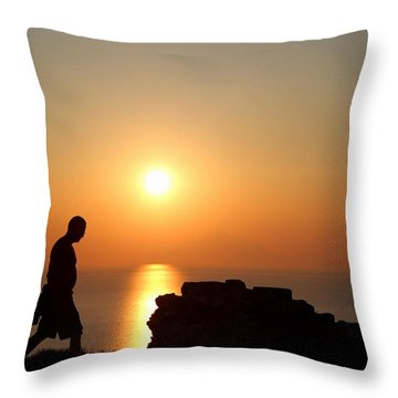 Walking Paradise Throw Pillow