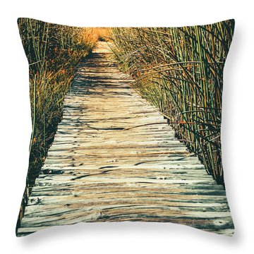 Throw Pillow featuring the photograph Walking Path by Alexey Stiop