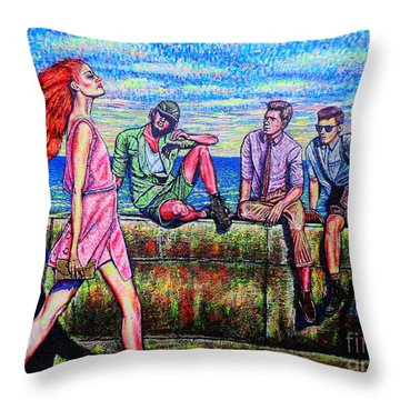 Walking Proud Throw Pillow