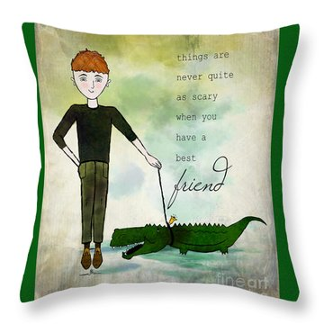 Walking Reginald From Ginkelmier Land Throw Pillow