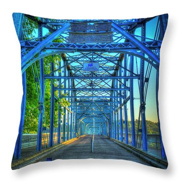 Walking Tall Walnut Street Pedestrian Bridge Art Chattanooga Tennessee Throw Pillow