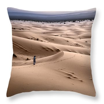 Walking The Desert Throw Pillow