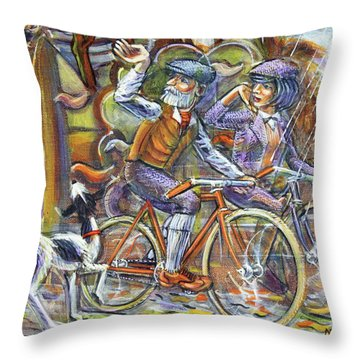 Walking The Dog 3 Throw Pillow
