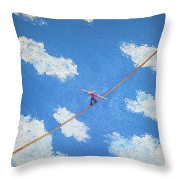 Walking The Line Throw Pillow