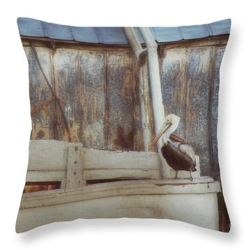 Throw Pillow featuring the photograph Walking The Plank by Benanne Stiens