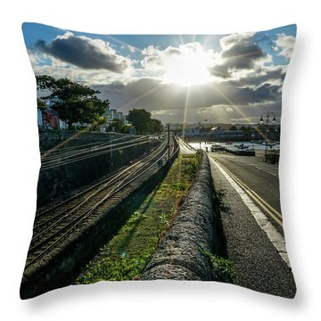 Walking The Streets Throw Pillow