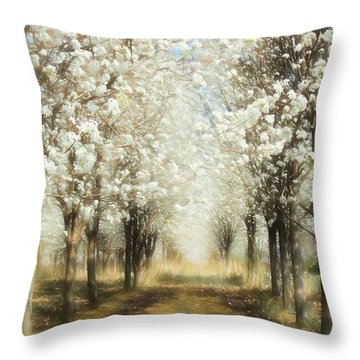 Walking Through A Dream Ap Throw Pillow