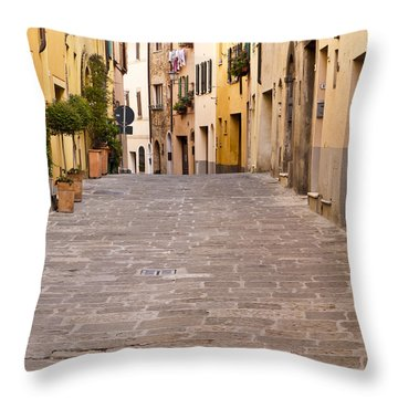 Walking Through Montepulciano Throw Pillow by Rae Tucker