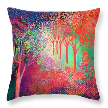 Walking Toward The Light Throw Pillow