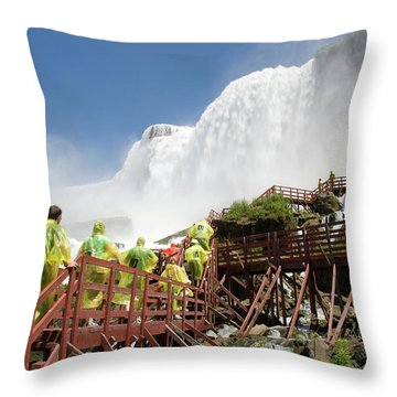 Throw Pillow featuring the photograph Walking Up Below Niagara Falls by Jeff Folger