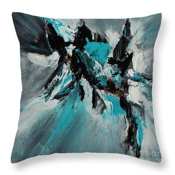 Walking Waves-2 Throw Pillow