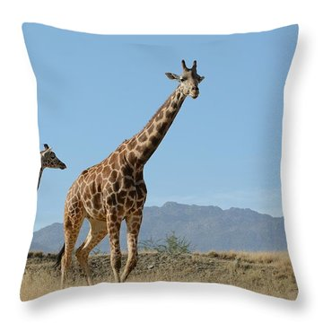 Walking With Mom Throw Pillow