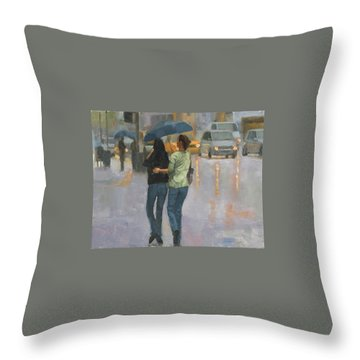Walking With You Throw Pillow