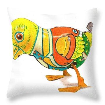 Walkingbird Throw Pillow